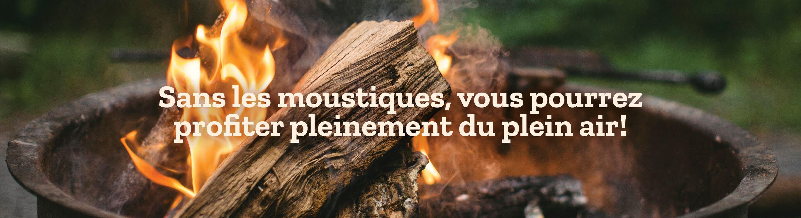 Sans les moustiques, vous pourrez profiter pleinement du plein air!
