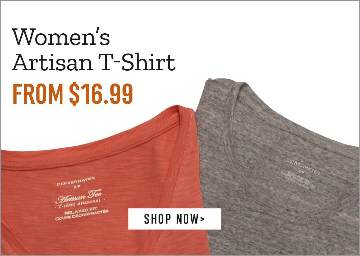 Women's Artisan T-Shirt from $16.99 - Shop Now.