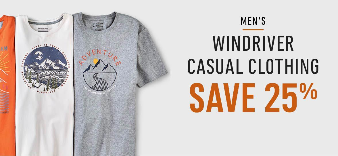 Men's WindRiver Casual Clothing - Save 25%