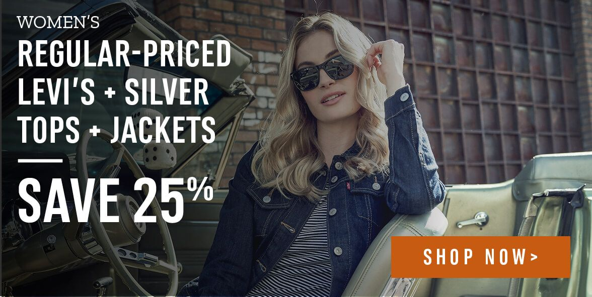 Women's regular-priced Levi's and Silver Top and Jackets - Shop Now