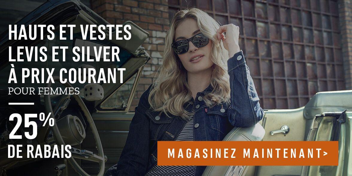 Hauts et vestes Levis et Silver à prix courant pour femmes : 25% de rabais
