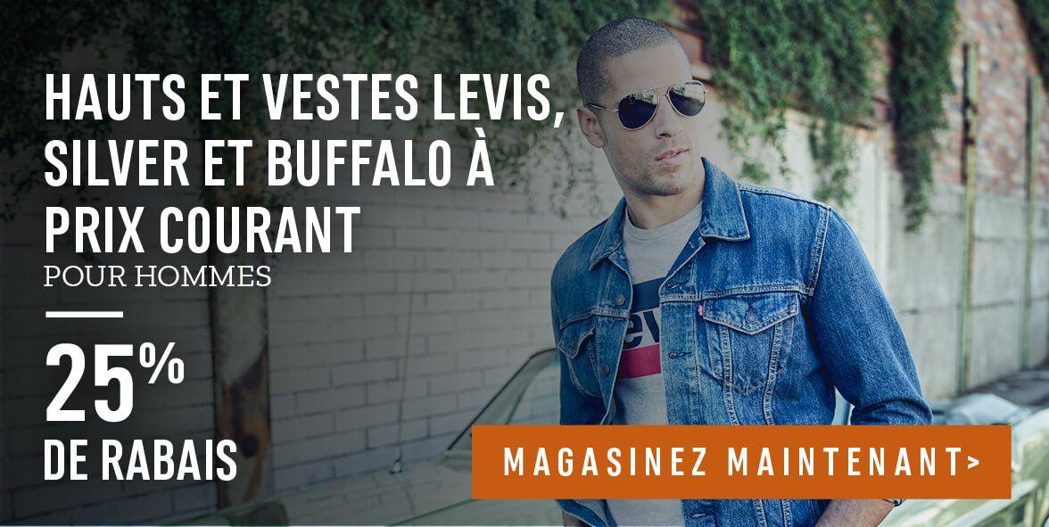 Hauts et vestes Levis, Silver et Buffalo à prix courant pour hommes : 25% de rabais