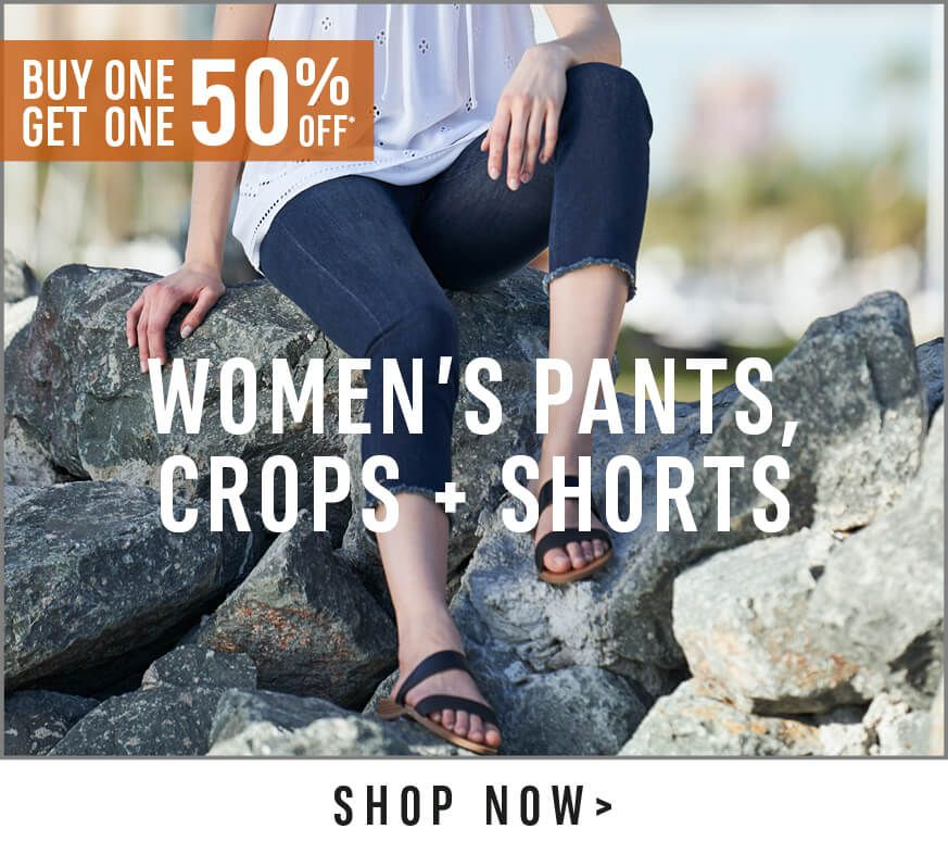 Women's Pants, Crops and Shorts - Shop Now