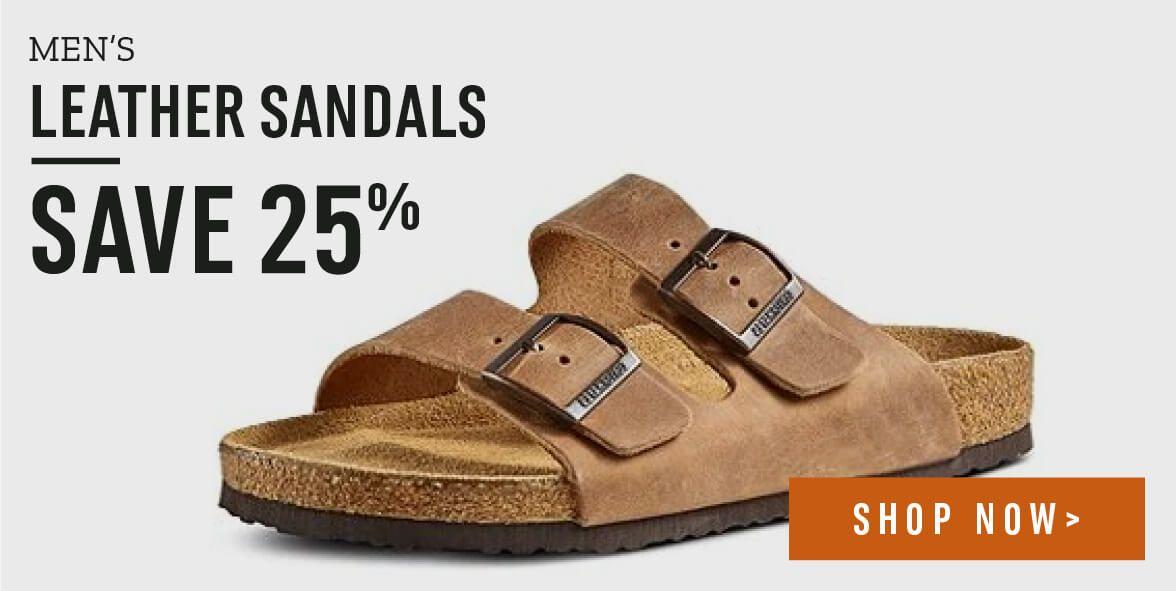 75d9b2efb Men s leather sandals. Save 25%. Shop Now