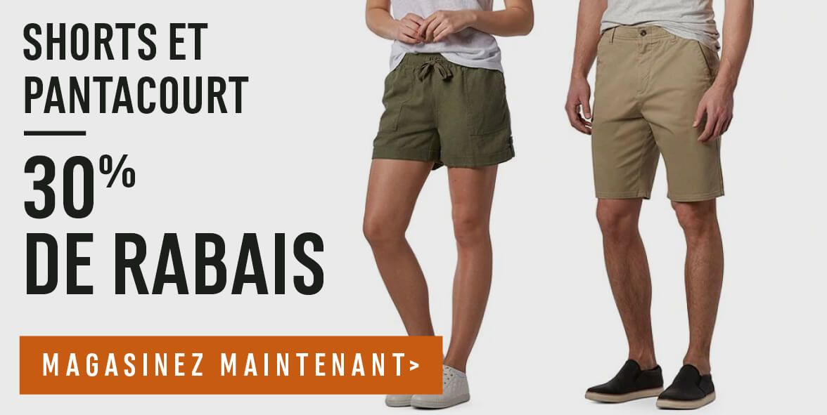 Shorts et pantacourt – 30% de Rabais – Magasinez maintenant