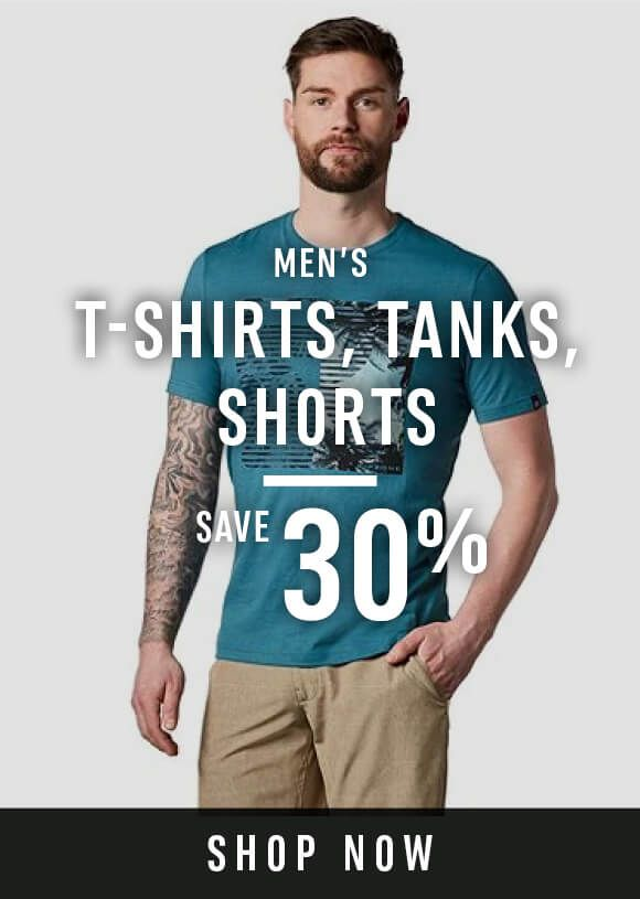 Men's tanks, tees and shorts - Save 30%