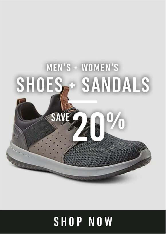 Men's and momen's shoes and sandals - Save 20%