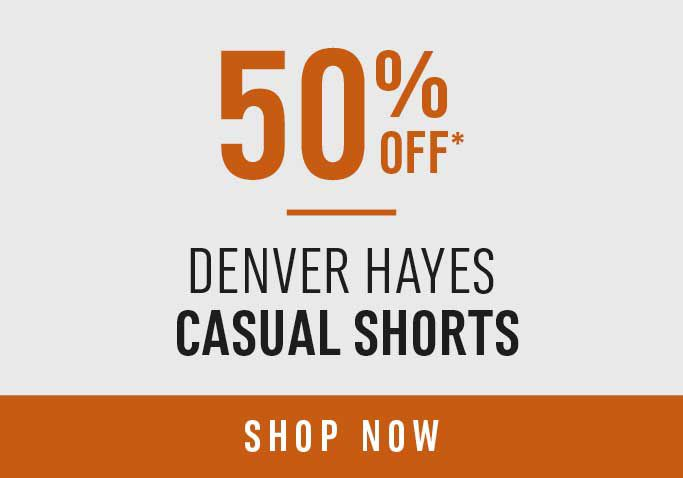 50% Off* Denver Hayes Casual Shorts - Shop Now