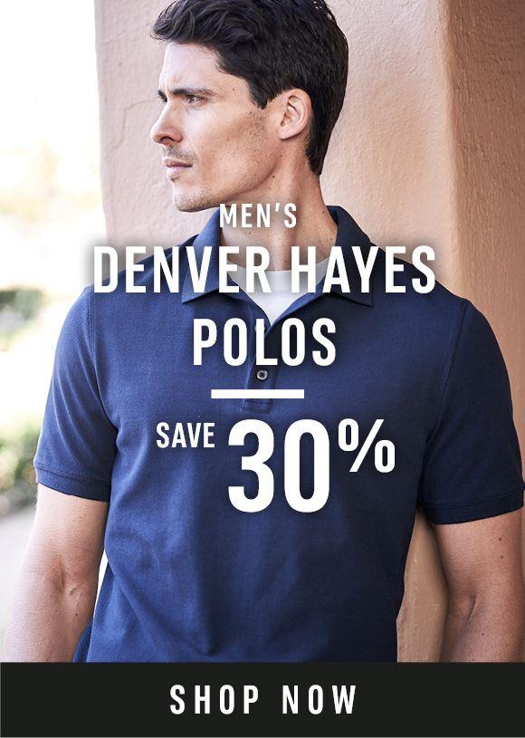 Men's Denver Hayes Polos - Save 30% - Shop Now