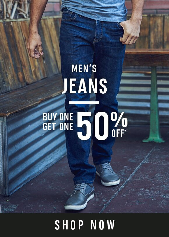 Men's Jeans - Buy One Get One 50% Off - Shop Now