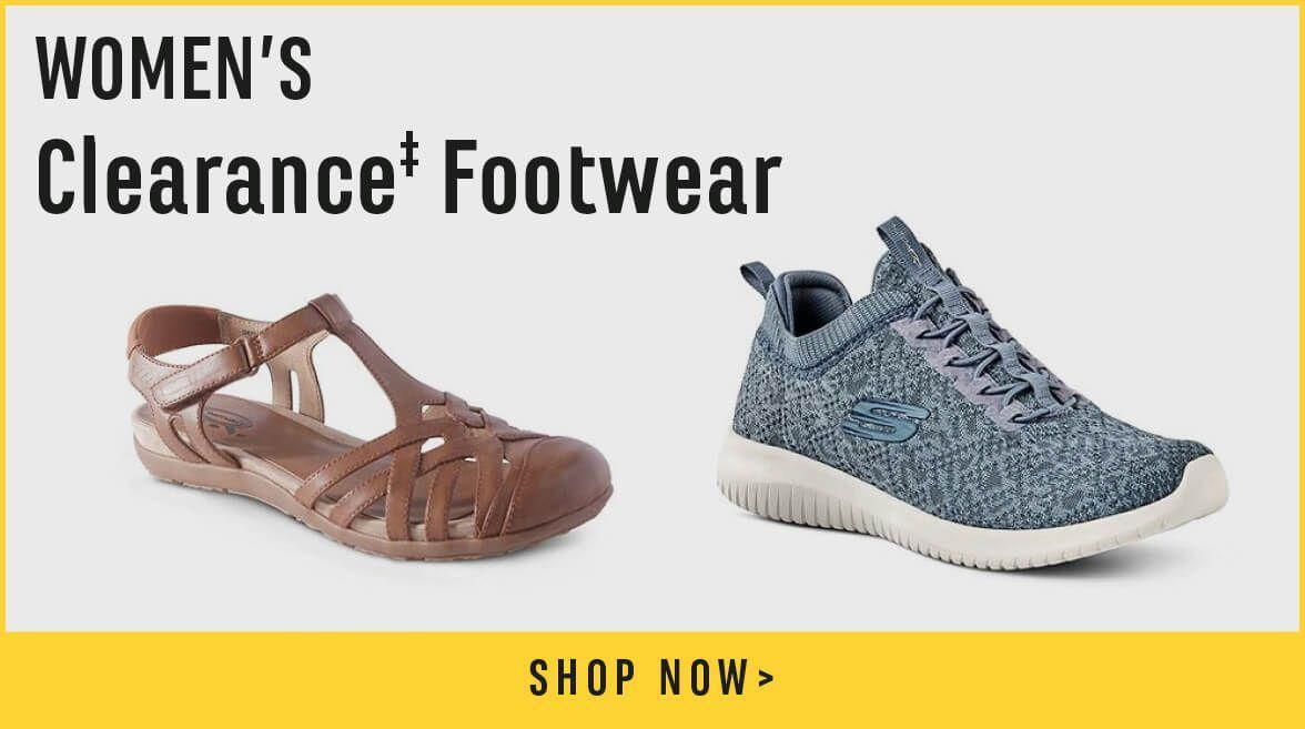 Women's Clearance Footwear. Shop Now.