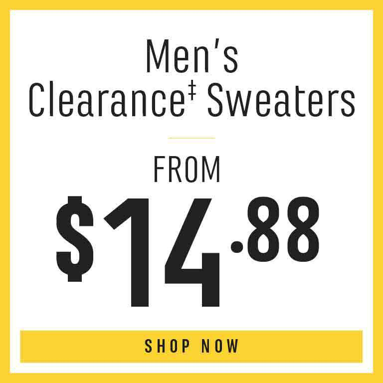 Shop Men's Clearance Sweaters