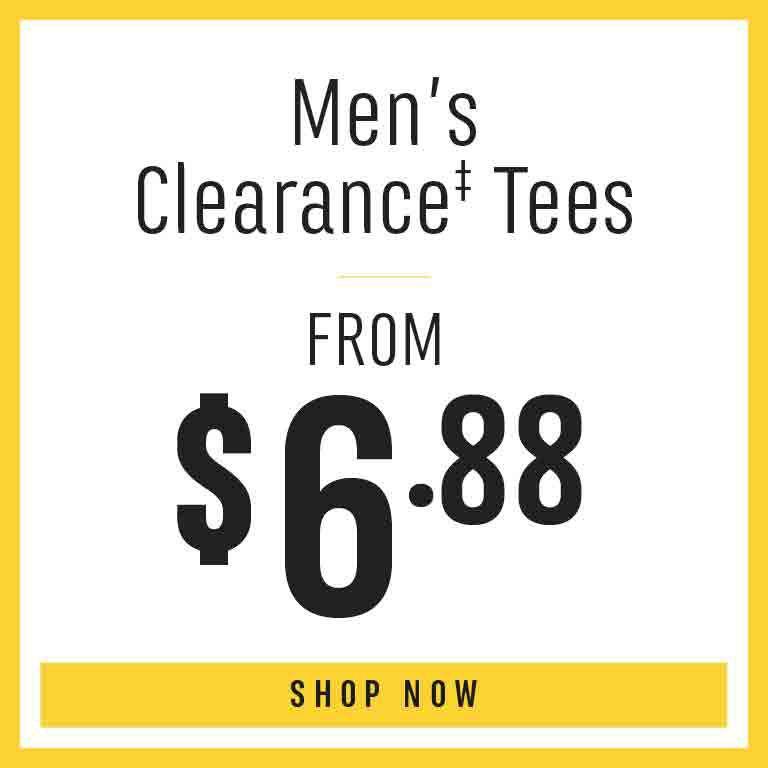 Shop Men's Clearance Tees