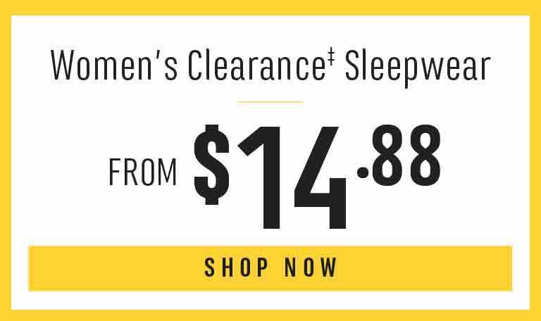 Women's Clearance Sleepwear