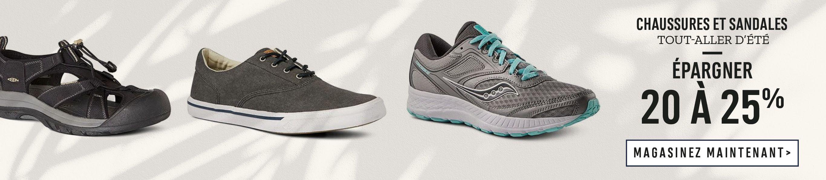 Chaussures et sandales tout-aller d'été : 20 à 25%. Magasinez Maintenant.