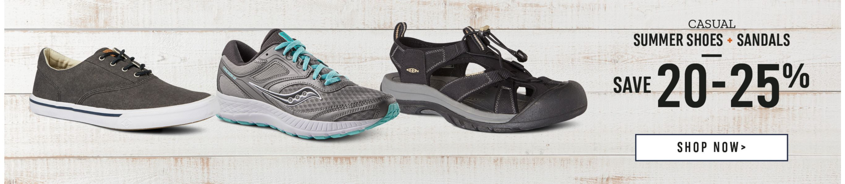 Casual Summer Shoes & Sandals: Save 20-25%. Shop Now.