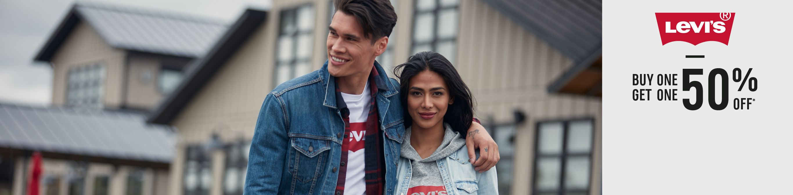 Levi's Buy One Get One 50% Off.