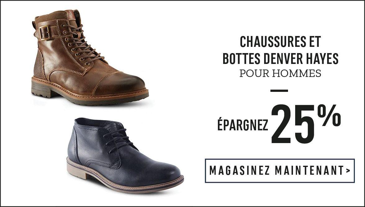 Chaussures et bottes Denver Hayes pour hommes : Épargnez 25 % - MAGASINEZ MAINTENANT