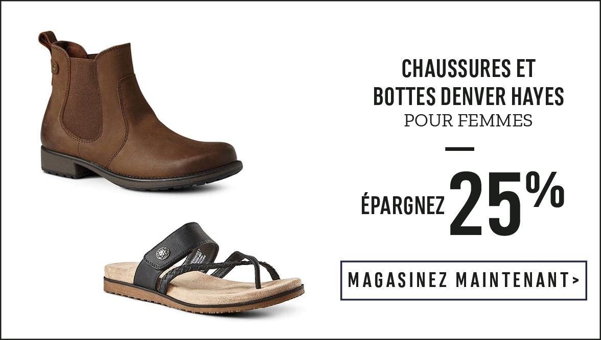 Chaussures et bottes Denver Hayes pour femmes : Épargnez 25 % - MAGASINEZ MAINTENANT