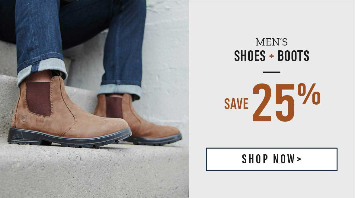 Men's Shoes and Boots Save 25%. Shop Now!