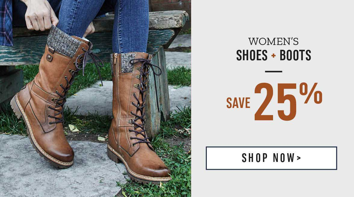 Women's Shoes and Boots Save 25%. Shop Now!