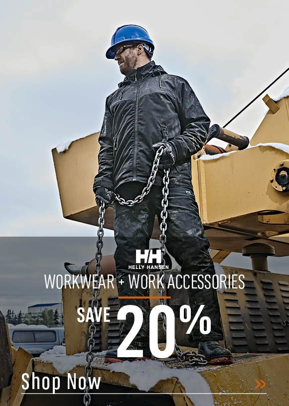 Helly Hansen Workwear and Accessories Save 20%. Shop Now!