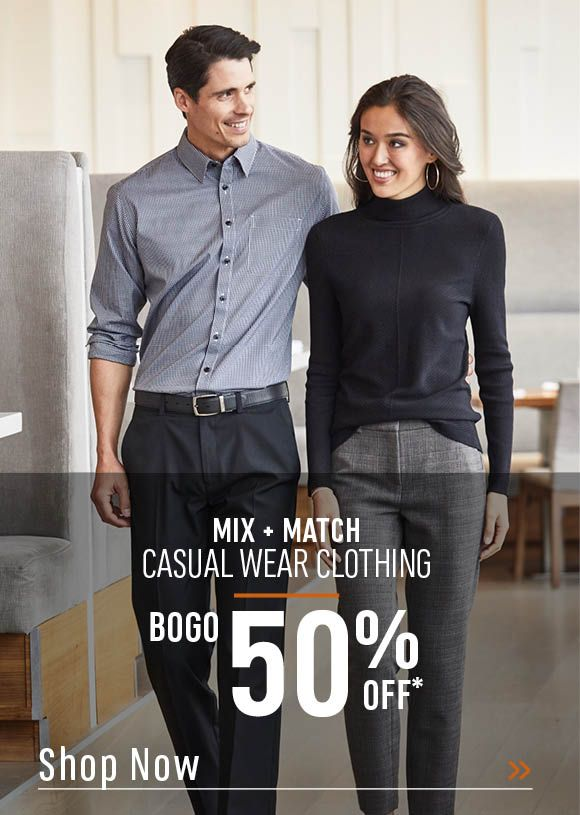 Mix and Match Casual Wear Clothing Buy One, Get One 50% Off. Shop Now!