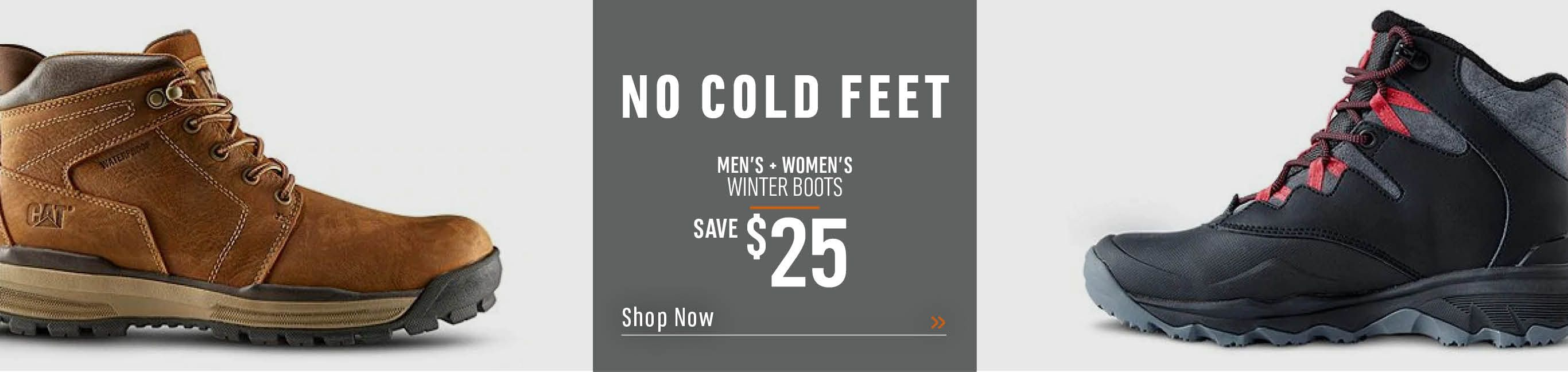 No Cold Feet. Men's and Women's Winter Boots. Save $25. Shop Now.