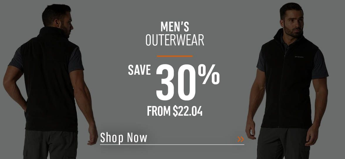 Men's Outerwear Save 30% - From $22.04 - Shop Now!