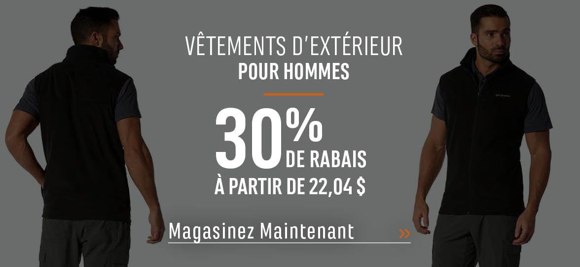 Vêtements d'extérieur pour hommes - 30 % de rabais. À partir de 22,04 $. MAGASINEZ MAINTENANT