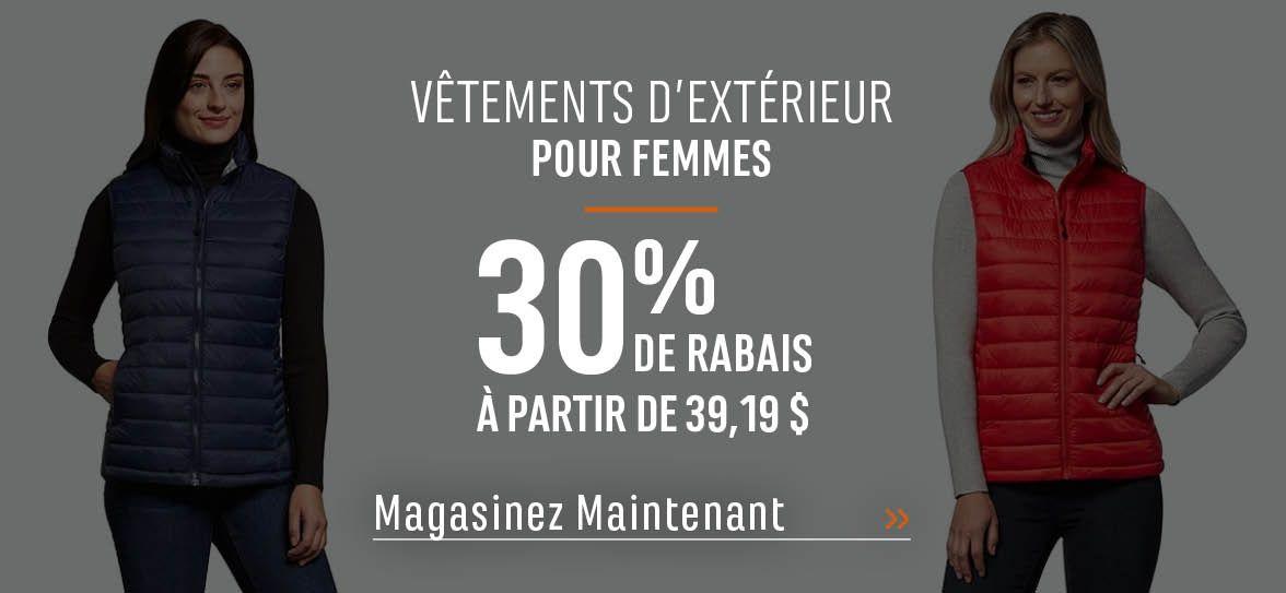 Vêtements d'extérieur pour femmes - 30 % de rabais. À partir de 39,19 $. MAGASINEZ MAINTENANT