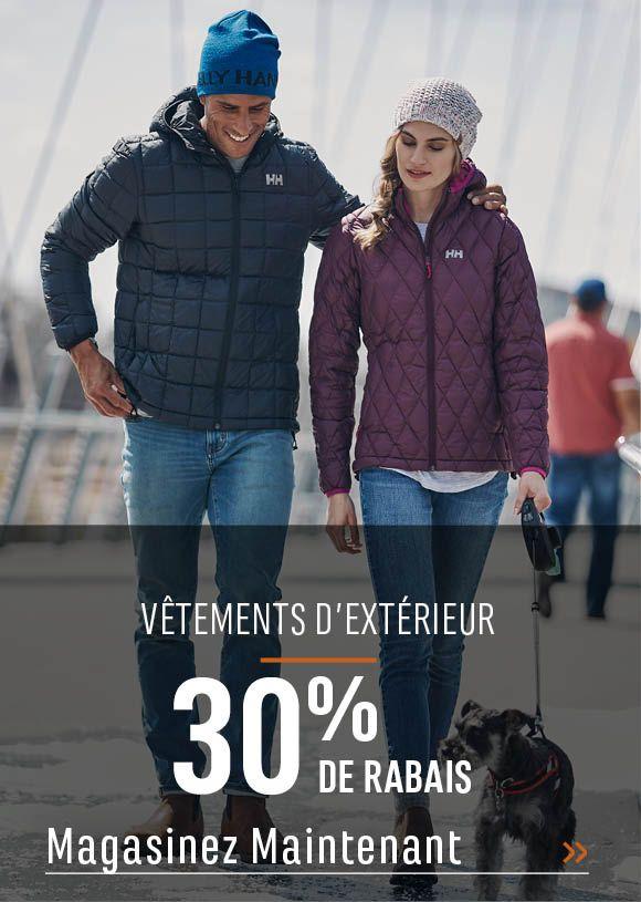 Vêtements d'extérieur : 30 % de rabais. MAGASINEZ MAINTENANT
