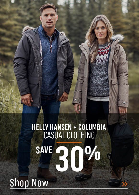 Helly Hansen and Columbia Casual Clothing. Shop Now!