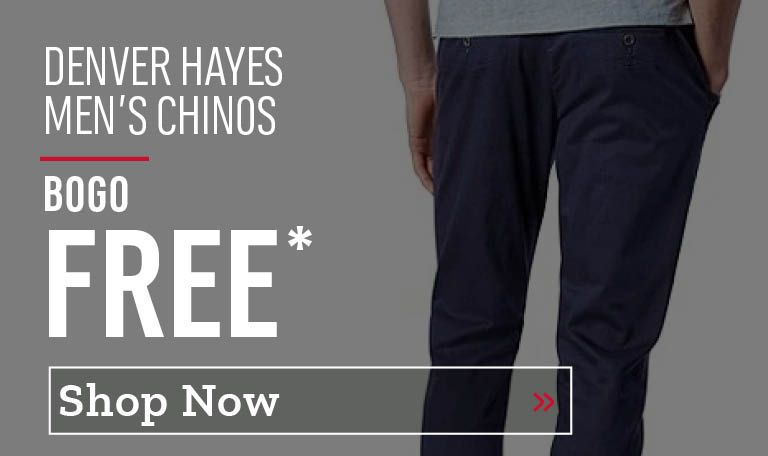 Denver Hayes Men's Chinos Buy One Get One Free. Shop Now.