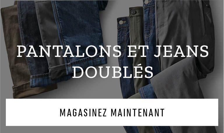 Pantalons et jeans doublés. Magasinez maintenant