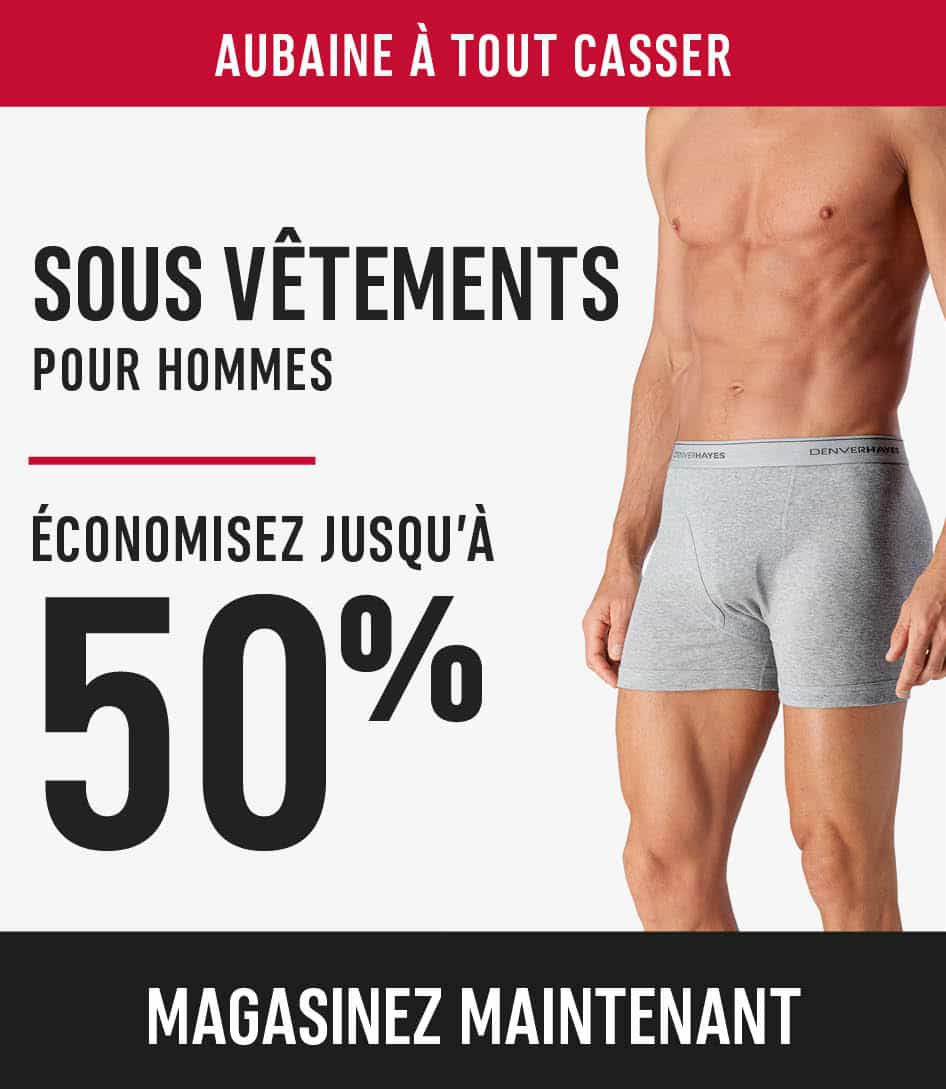 Men's Underwear save up to 50%