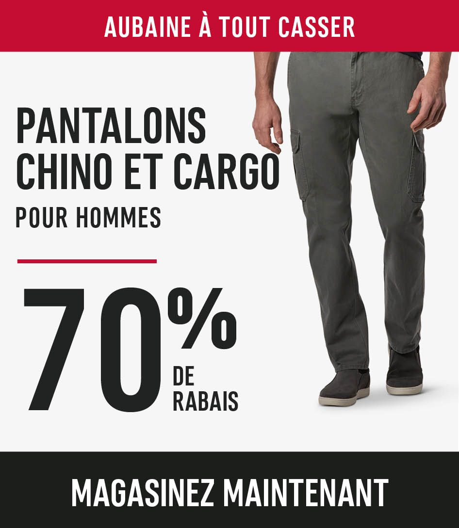 Men's Chino and Cargo Pants Save 70%