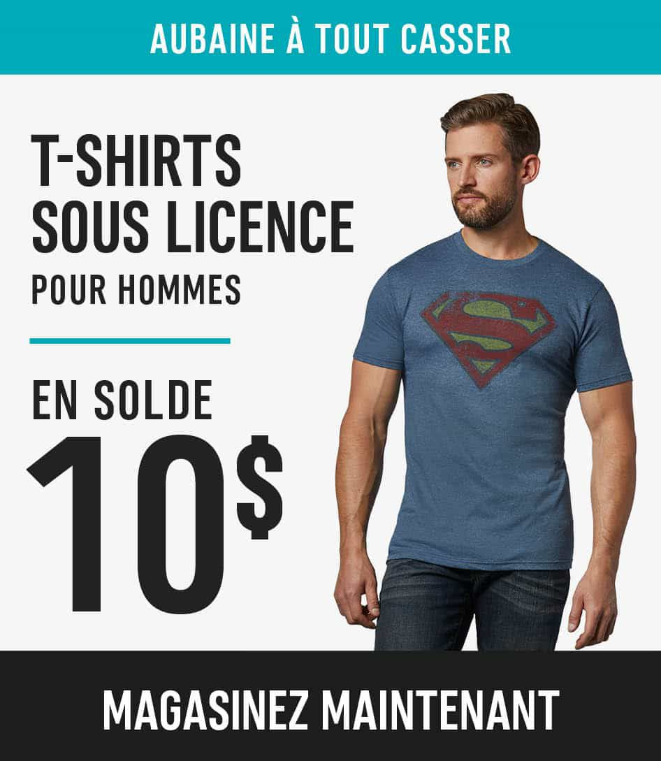 Men's Licensed T-Shirts sale $10