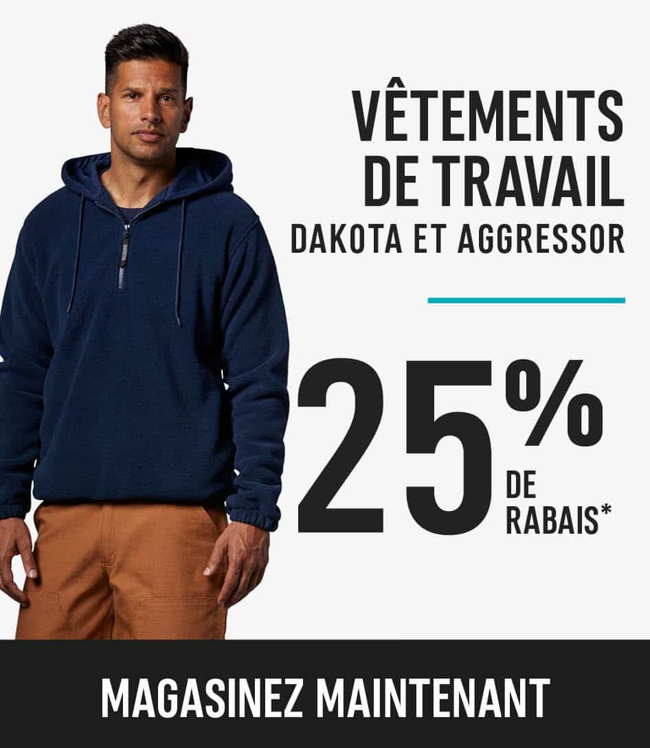 Dakota and Aggressor workwear save 25%