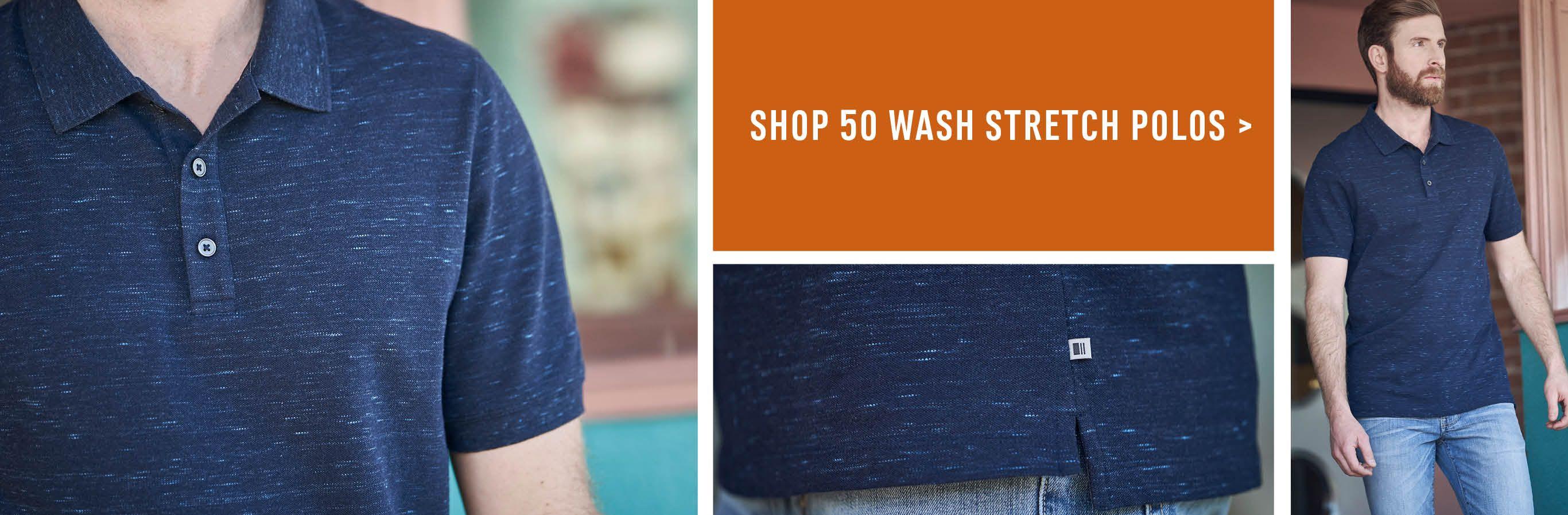 Shop 50 Wash Stretch Polos