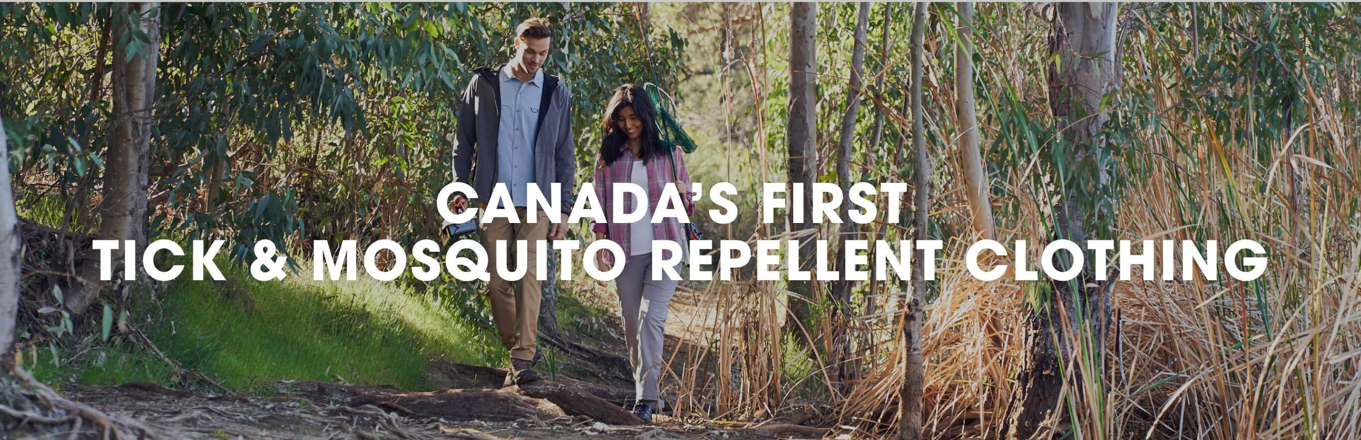 Canada's first mosquito and tick repellent clothing.