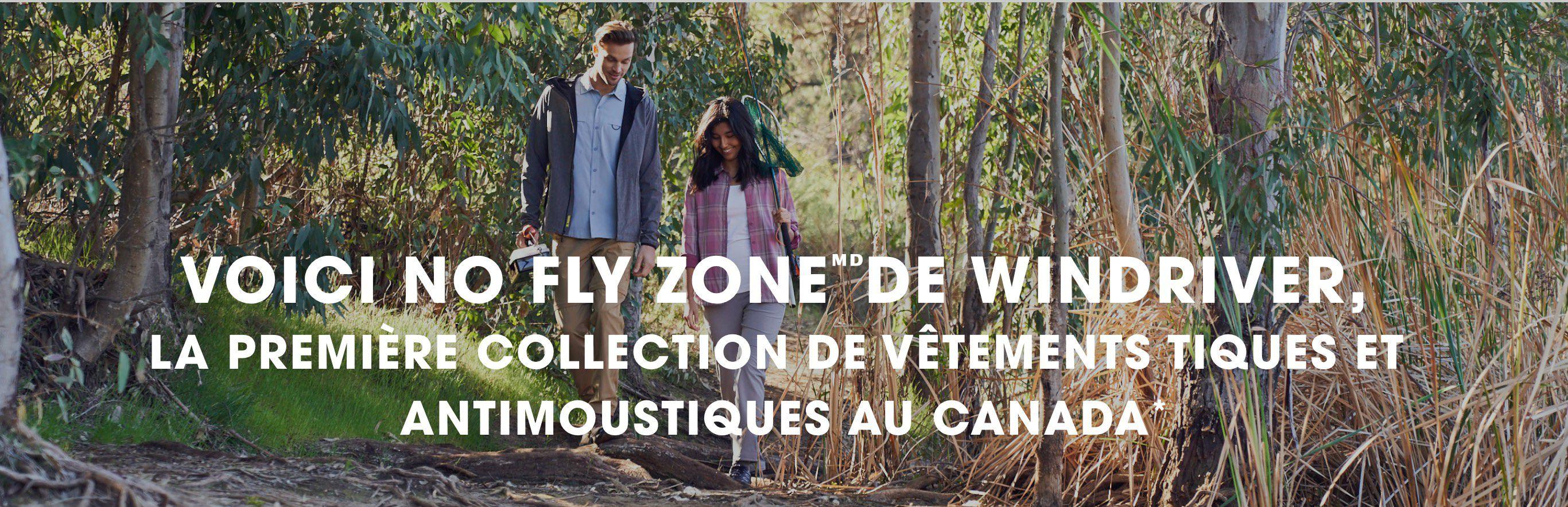 La première collection de vêtements tiques et antimoustiques au Canada.
