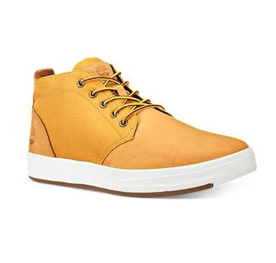 Men's Davis Square Leather and Fabric Chukka Boots