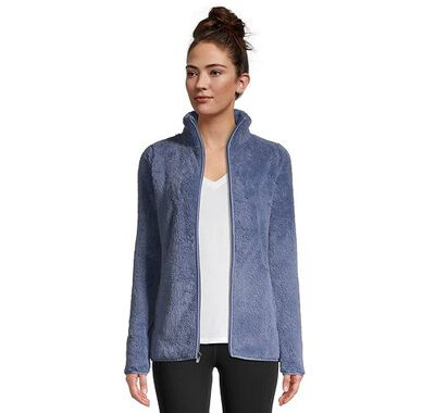 Women's Plush Fleece Zip-Up Jacket