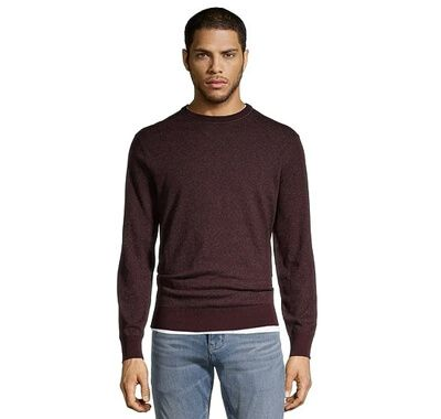 Men's Soft Cotton Marled Crew Neck Sweater
