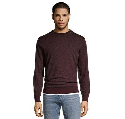 Men's Soft Cotton Marled Crew Neck Sweater
