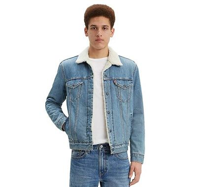 Men's Denim Sherpa Trucker Jacket
