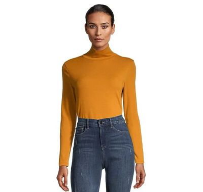 Women's Long Sleeve Fitted Turtleneck T-Shirt