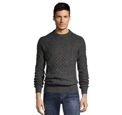 Men's Heritage Cable Crew Neck Sweater