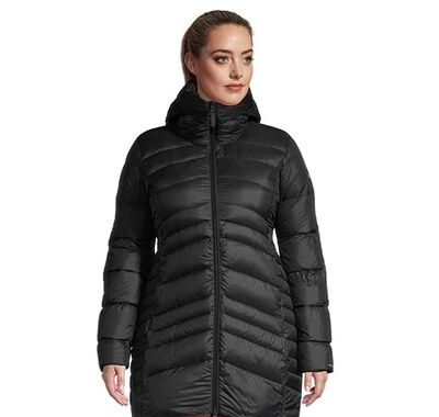 Women's Omni Heat Autumn Park Down Mid Hooded Jacket